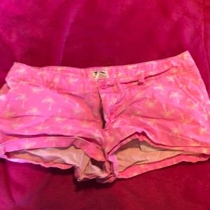 Mossimo neon pink size 11 palm tree shorts